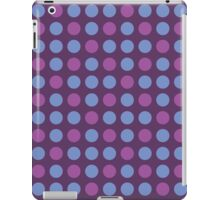 Retro pattern in circles iPad Case/Skin