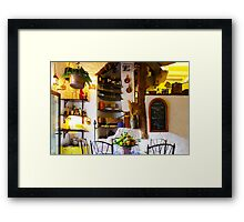 Vintage Provence Kitchen Interior in Ramatuelle, South of Saint Tropez Framed Print