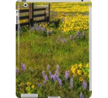 Wildflower meadow In the Columbia Gorge iPad Case/Skin