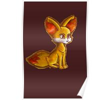 Fire Fennekin Pokemon  Poster