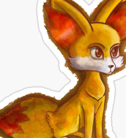 Fire Fennekin Pokemon  Sticker