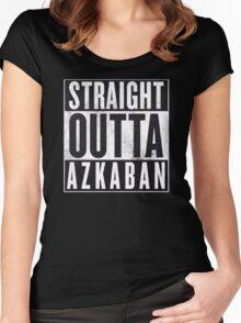 Straight Outta Azkaban Women's Fitted Scoop T-Shirt