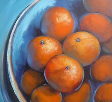 oranges on blue by Chris Hobel