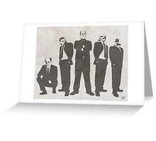 Tuxedo Monsters Greeting Card