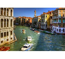 Looking North on the Grand Canal Photographic Print