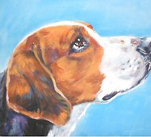American Foxhound Fine Art Painting by lashepard