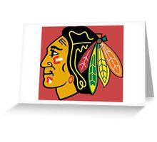 ChicagoBlackhawksLogo.svg Greeting Card