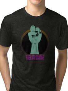 Free mudokons Tri-blend T-Shirt