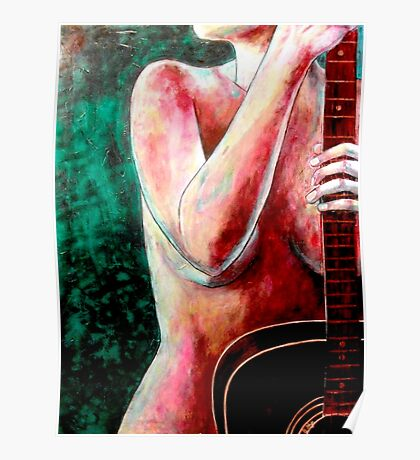 Nude with Guitar 2 Poster