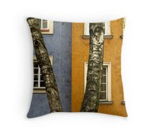 Buildings in contrast Throw Pillow