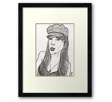 Black Hat Framed Print