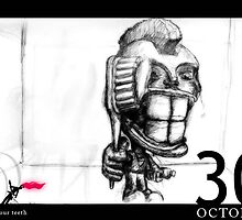 October 30th - Brush your teeth by 365 Notepads -  School of Faces