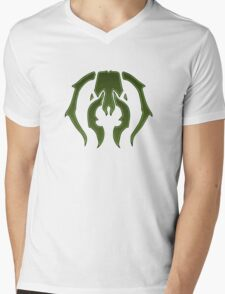 A Black Green Insect Mens V-Neck T-Shirt