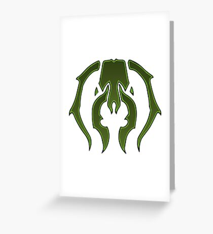 A Black Green Insect Greeting Card