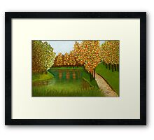 Colored reflections Framed Print