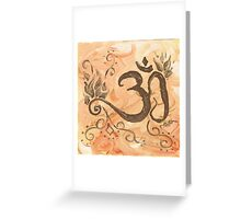 The Fire of Transformation - Om With Agni  Greeting Card