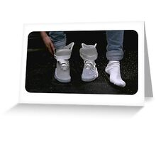 Shoes Marty McFly BTF  Greeting Card