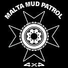 MMP - Malta Mud Patrol - Club Logo White by PhotoWorks
