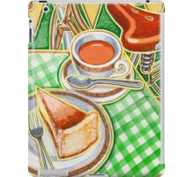 Eroica Britannia Bakewell Pudding and cup of tea on green iPad Case/Skin
