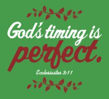 God's Timing Is Perfect Kids Tee