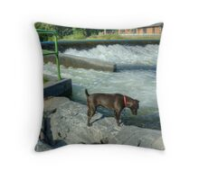 The Patterdale Terrier Throw Pillow