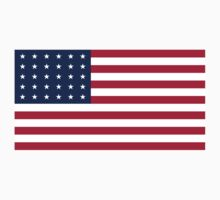 Historical Flags of the United States of America 1848 to 1851 US Flag with 30 Stars 13 Stripes Kids Tee