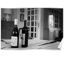 Wine French Table Poster