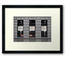 West end windows Framed Print