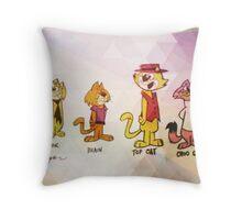 tc & the top cat boss Throw Pillow