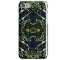 Water drops, grass stems iPhone Case/Skin