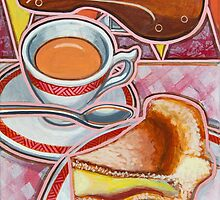Eroica Britannia and Bakewell Pudding on Pink by markhowardjones