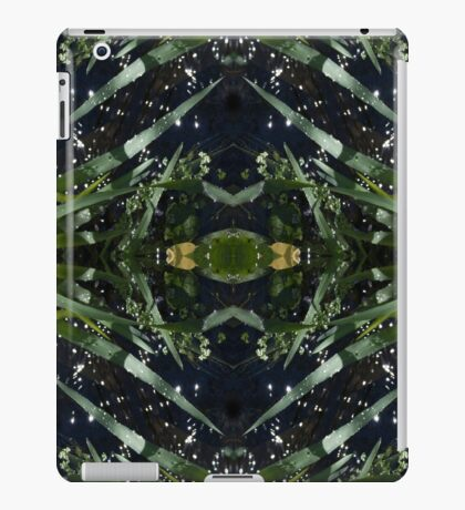 Water drops, grass stems iPad Case/Skin