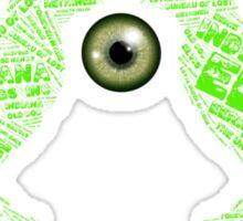 Joe Dante Eerie Indiana Crows with Geen Eyeball Sticker