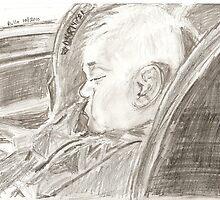 sleepy traveller by rullo