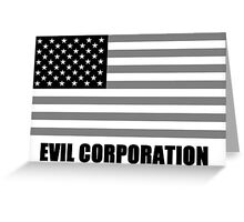 Evil Corporation Greeting Card