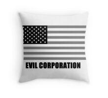 Evil Corporation Throw Pillow