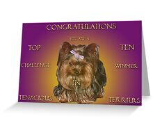 Top Ten Banner (Tenacious Terriers Group) Challenge Greeting Card