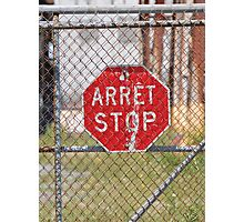 STOP Red sign Photographic Print