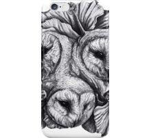 Compass - Barn Owls and Hibiscus Flowers iPhone Case/Skin