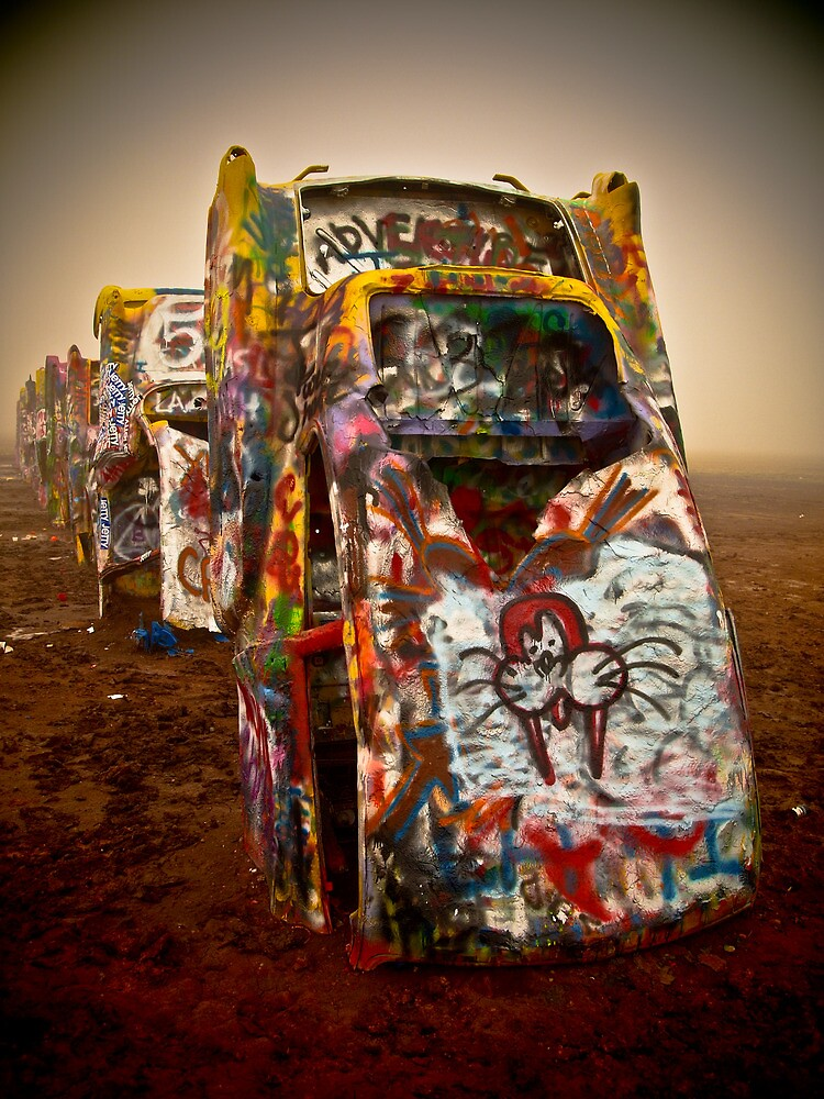Cadillac Ranch - Texas  by Jerry Schlagheck