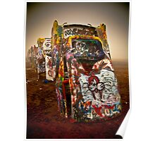 Cadillac Ranch - Texas  Poster