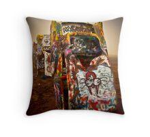 Cadillac Ranch - Texas  Throw Pillow
