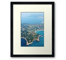 Antibes, Southern France - Areal view Framed Print