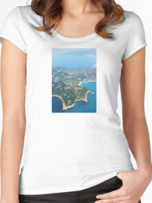 Antibes, Southern France - Areal view Women's Fitted Scoop T-Shirt