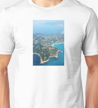 Antibes, Southern France - Areal view Unisex T-Shirt