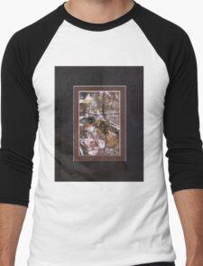 ABSTRACT SNOW SCENE Men's Baseball ¾ T-Shirt