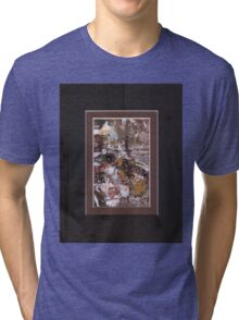 ABSTRACT SNOW SCENE Tri-blend T-Shirt