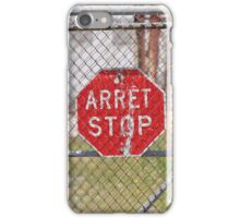 STOP Red sign iPhone Case/Skin