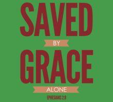 Saved By Grace Alone Kids Tee