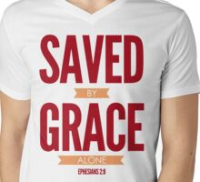 Saved By Grace Alone Mens V-Neck T-Shirt